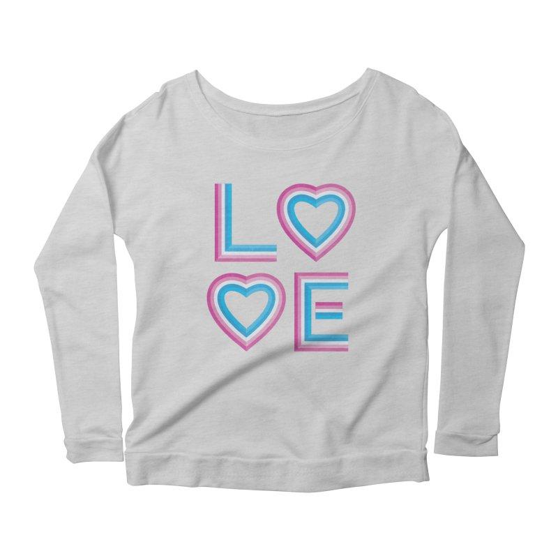 LOVE Women's Scoop Neck Longsleeve T-Shirt by MidnightCoffee