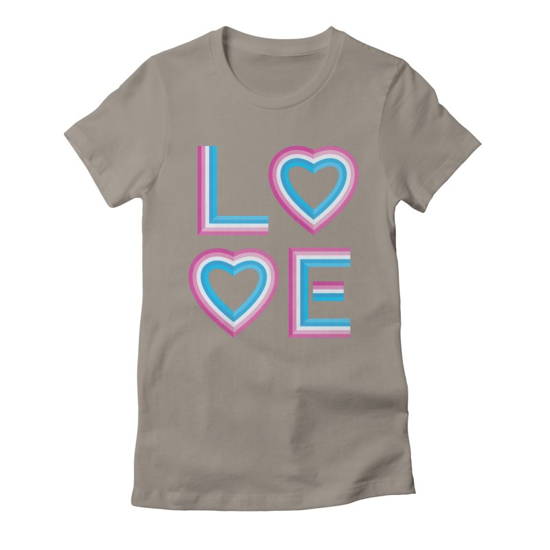 LOVE Women's Fitted T-Shirt by MidnightCoffee