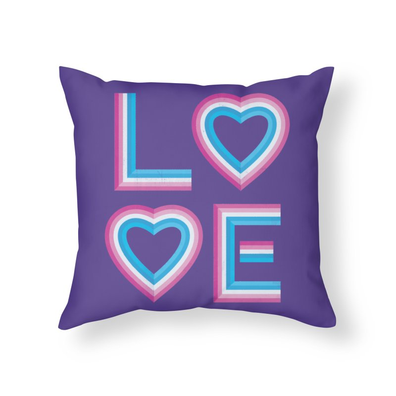 LOVE Home Throw Pillow by MidnightCoffee
