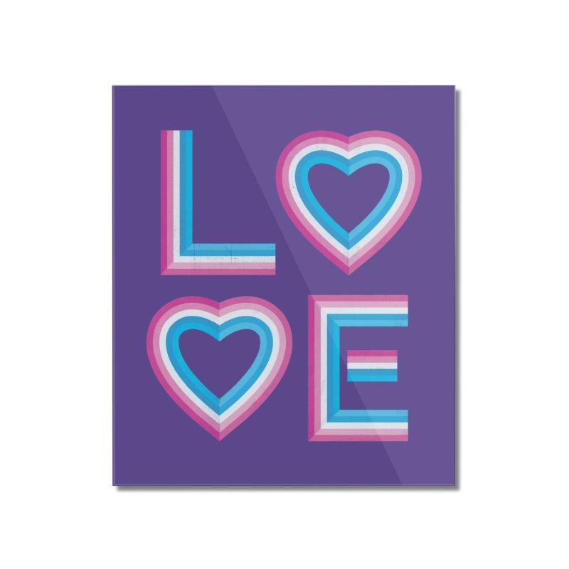 LOVE Home Mounted Acrylic Print by MidnightCoffee