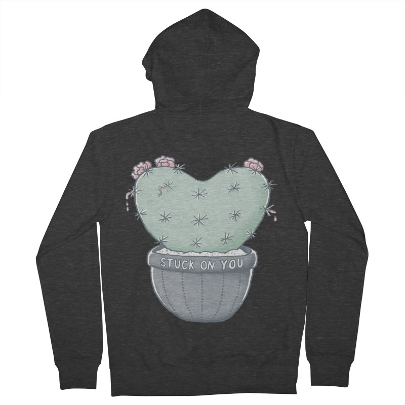 Love Hurts Women's French Terry Zip-Up Hoody by MidnightCoffee