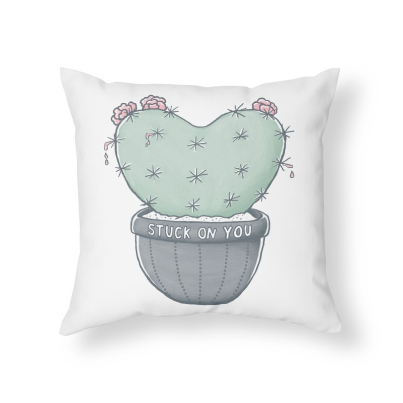 Love Hurts Home Throw Pillow by MidnightCoffee