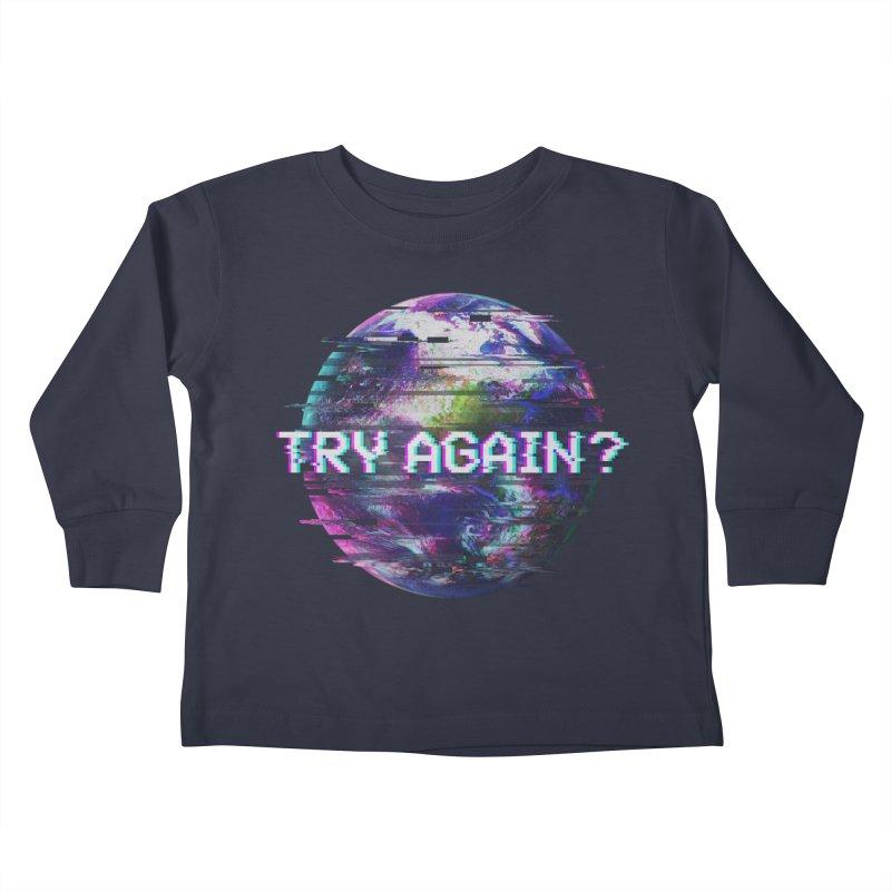 Humanity Glitch Kids Toddler Longsleeve T-Shirt by MidnightCoffee