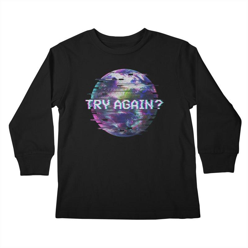 Humanity Glitch Kids Longsleeve T-Shirt by MidnightCoffee