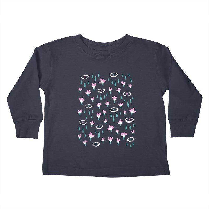 Let It Rain Kids Toddler Longsleeve T-Shirt by MidnightCoffee