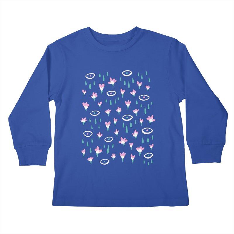 Let It Rain Kids Longsleeve T-Shirt by MidnightCoffee