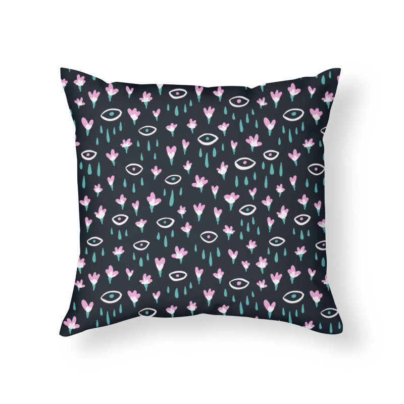 Let It Rain Home Throw Pillow by MidnightCoffee