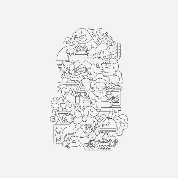 Design for Threadless Saga (Line Version)