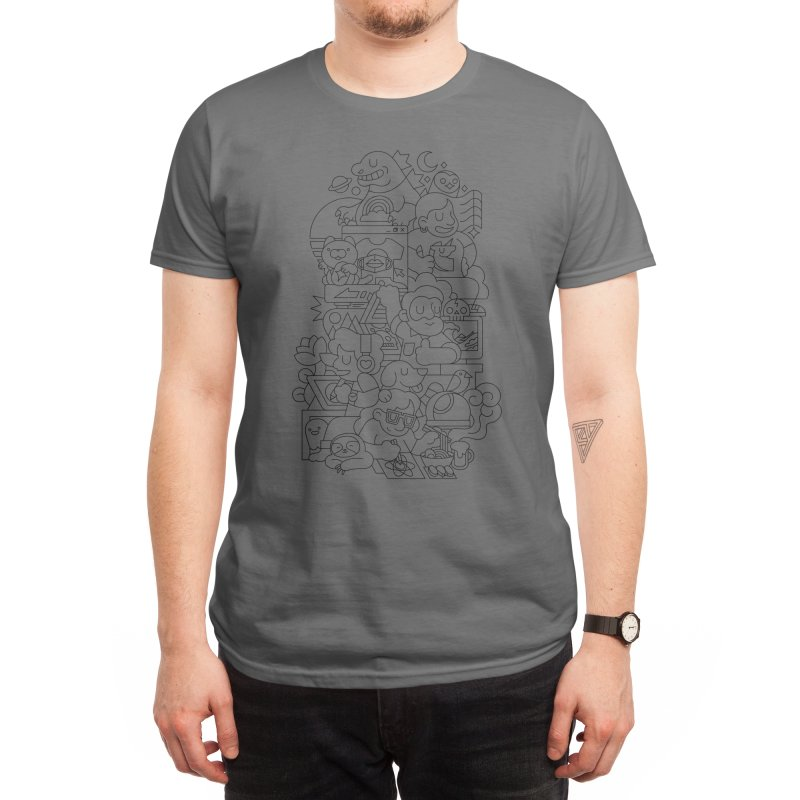 Threadless Saga (Line Version) Men's T-Shirt by Midnight Etude
