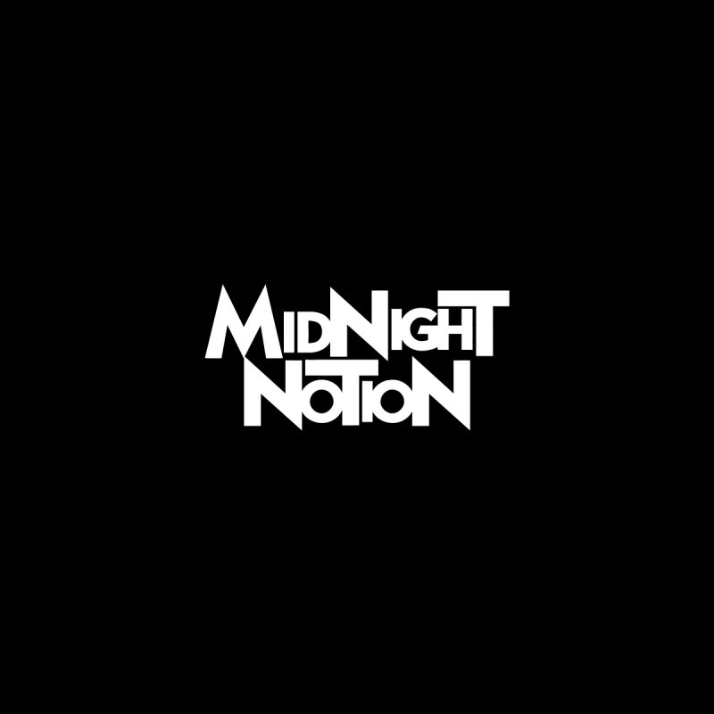 Midnight Notion Text Logo (White) by Midnight Notion Merch Store