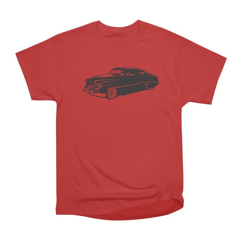 The Coupe in Men's Heavyweight T-Shirt Red by Midnight Studio