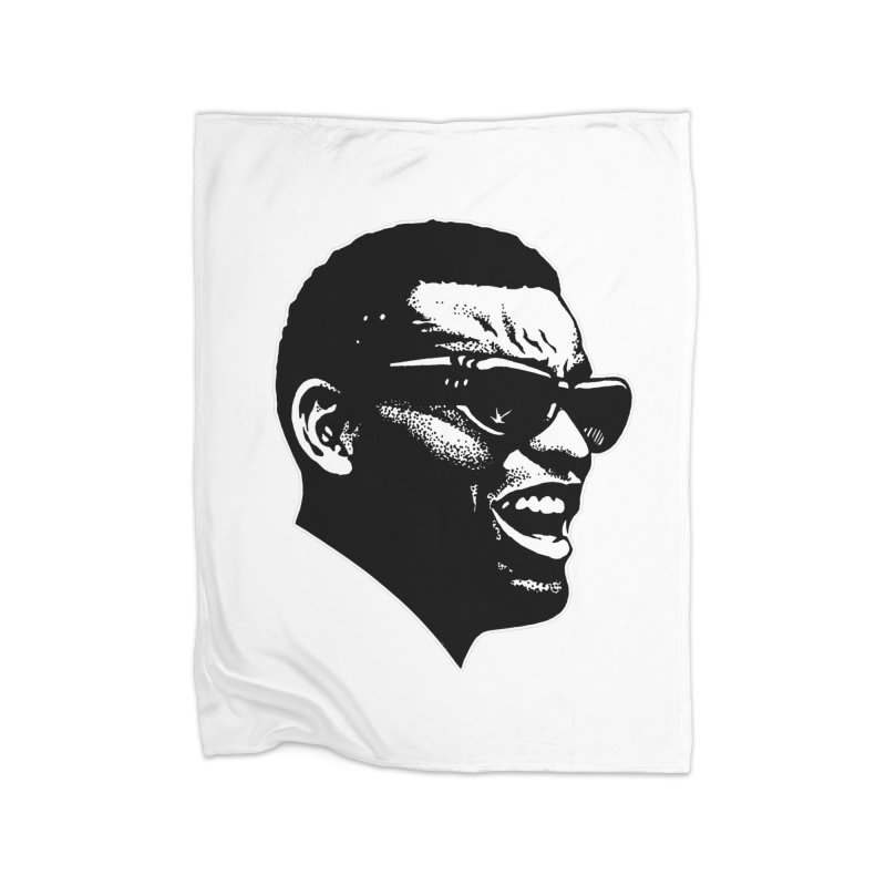 Brother Ray Home Fleece Blanket Blanket by Midnight Studio