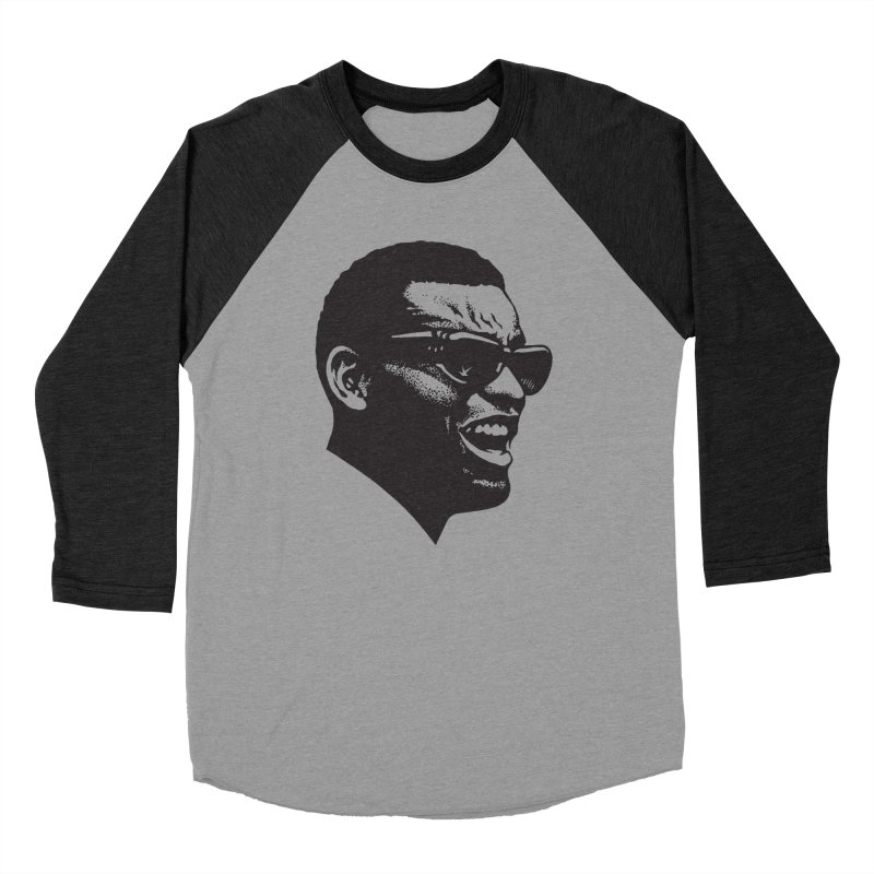 Brother Ray in Women's Baseball Triblend Longsleeve T-Shirt Heather Onyx Sleeves by Midnight Studio