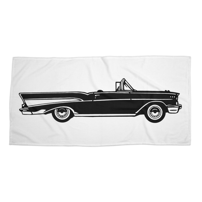 '57 Chevy in Beach Towel by Midnight Studio