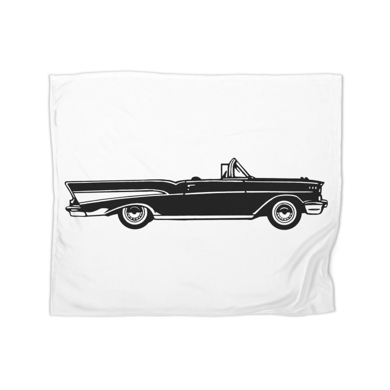 '57 Chevy Home Fleece Blanket Blanket by Midnight Studio