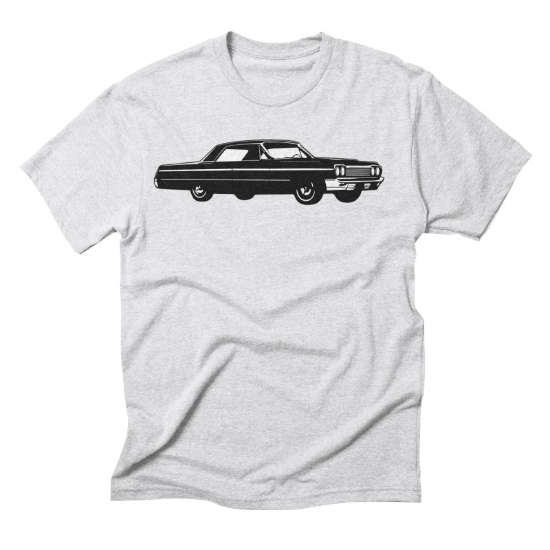 '64 Impala in Men's Triblend T-Shirt Heather White by Midnight Studio