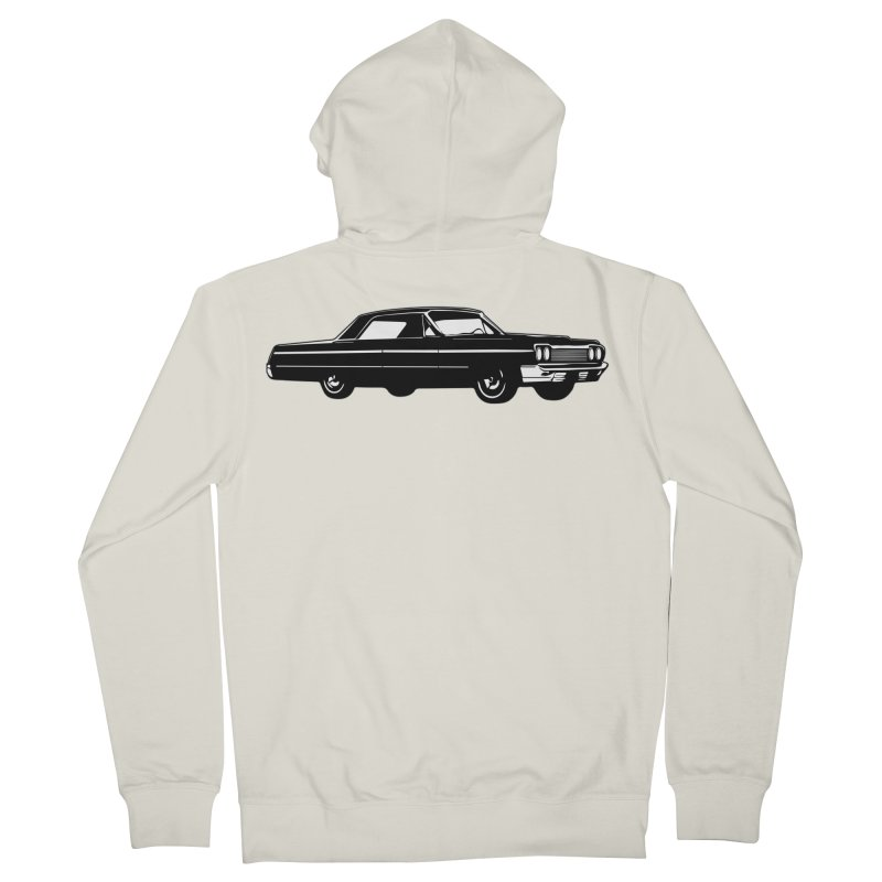 '64 Impala Men's French Terry Zip-Up Hoody by Midnight Studio