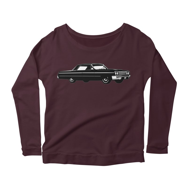 '64 Impala Women's Longsleeve Scoopneck  by Midnight Studio