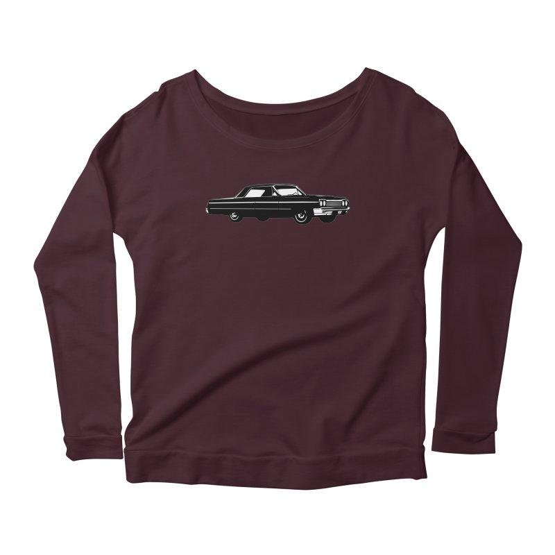'64 Impala Women's Scoop Neck Longsleeve T-Shirt by Midnight Studio