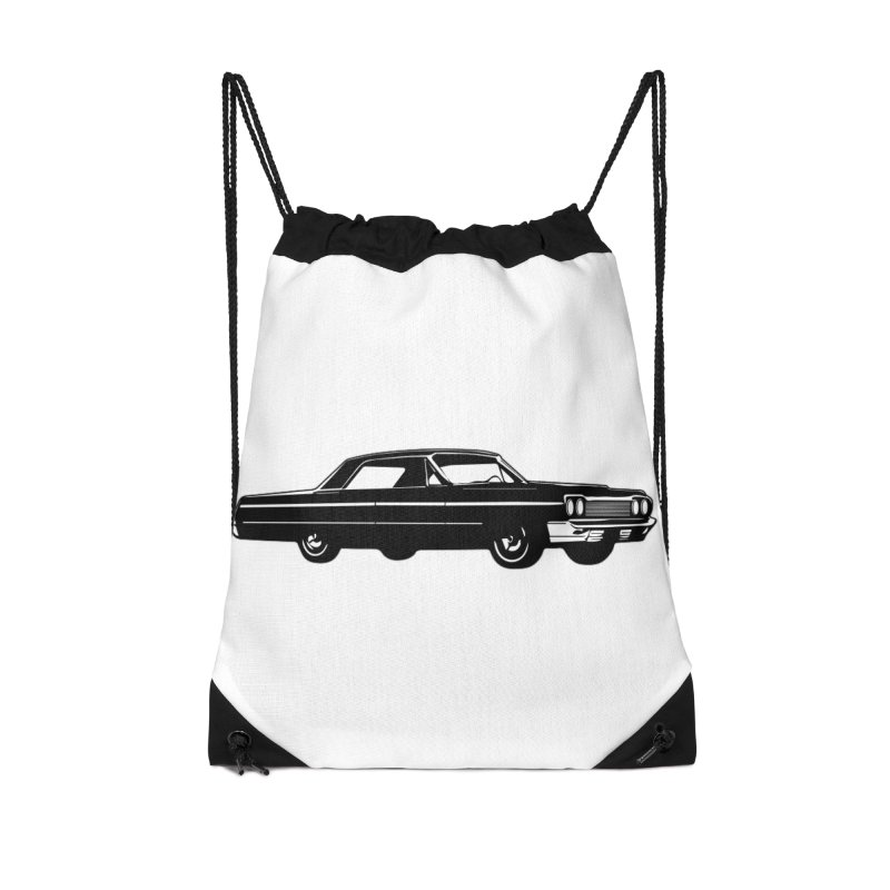 '64 Impala Accessories Drawstring Bag Bag by Midnight Studio