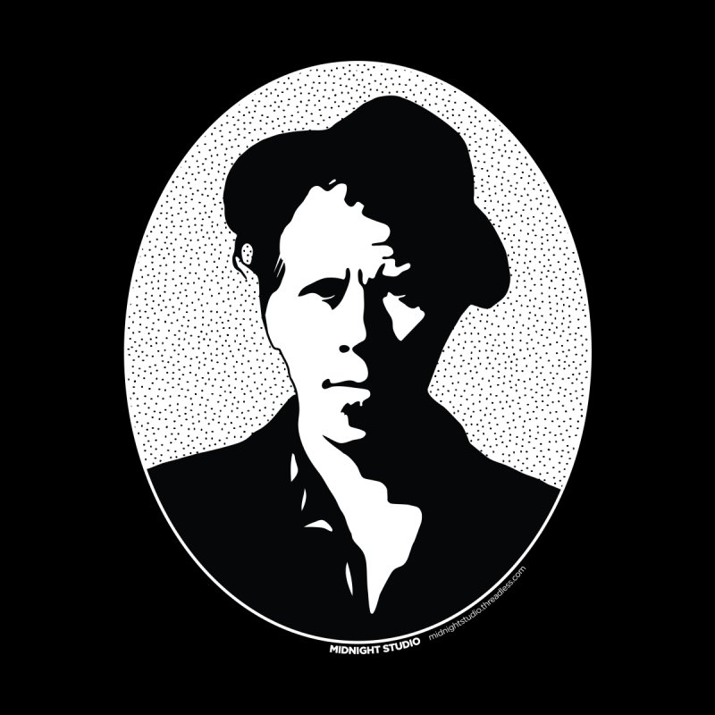 Tom Waits in White Home Shower Curtain by Midnight Studio