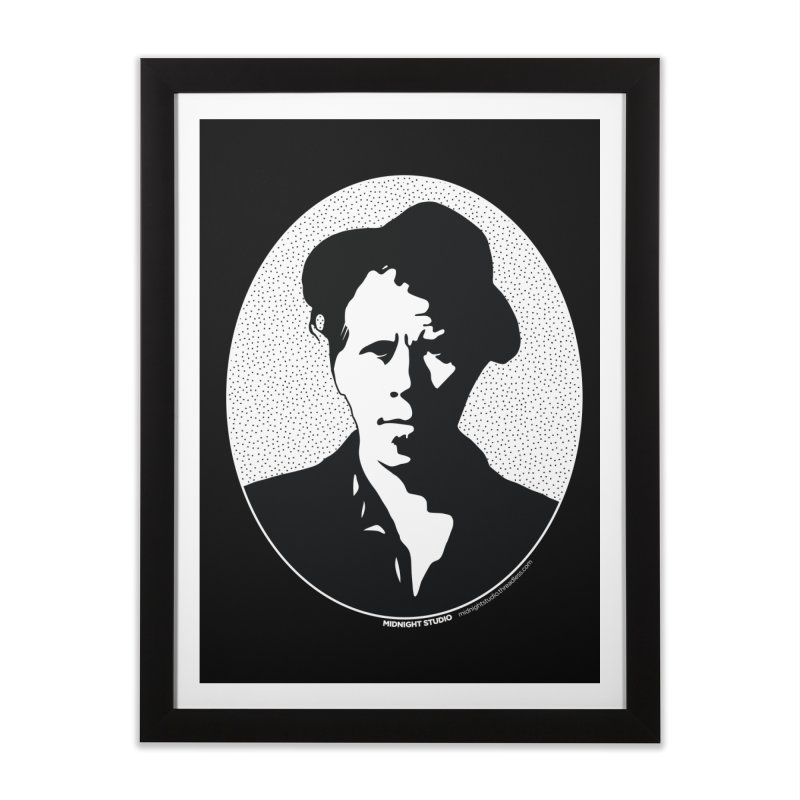 Tom Waits in White Home Framed Fine Art Print by Midnight Studio