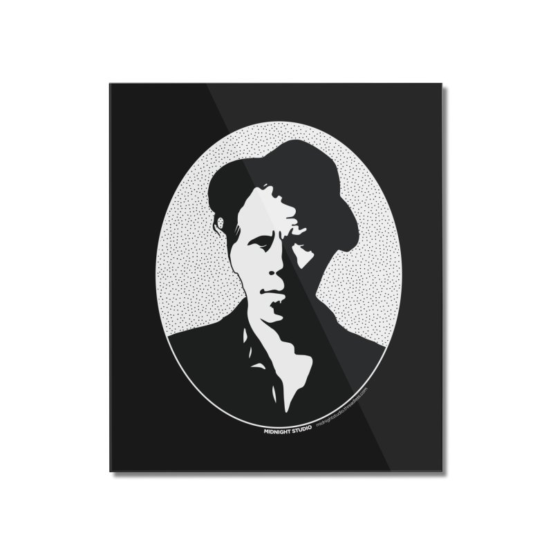 Tom Waits in White Home Mounted Acrylic Print by Midnight Studio