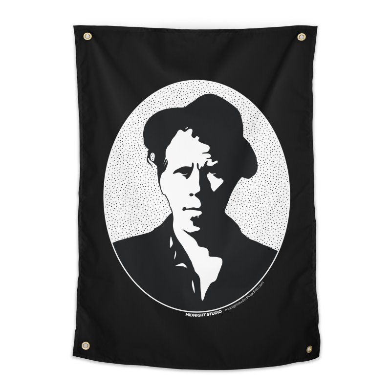 Tom Waits in White Home Tapestry by Midnight Studio
