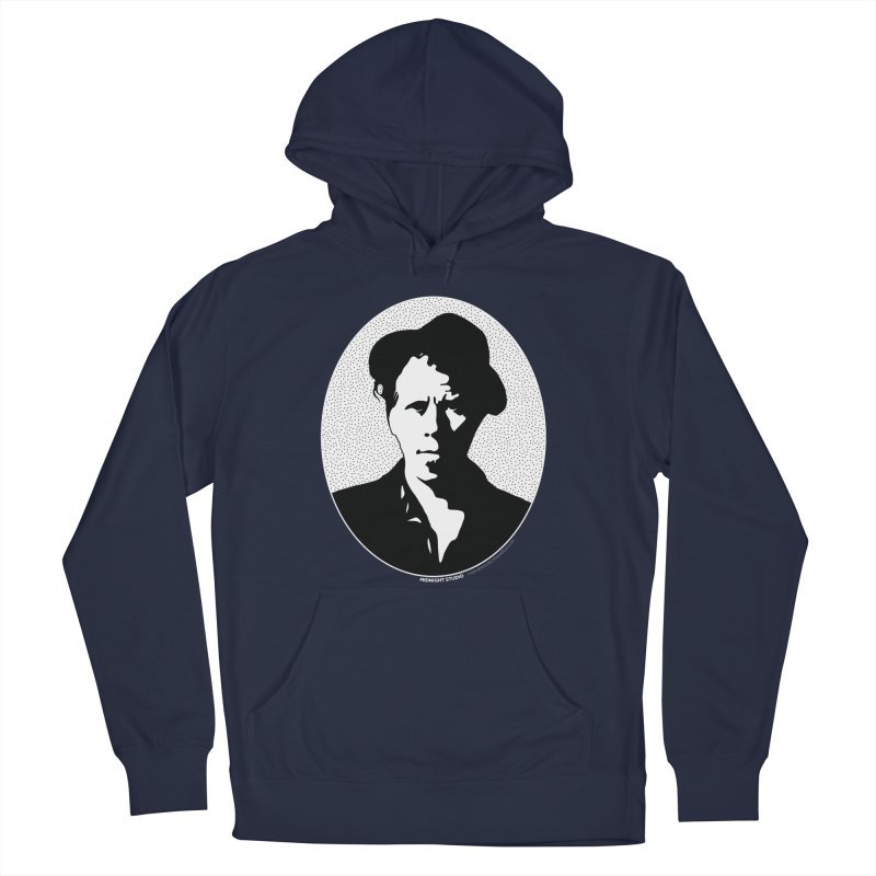 Tom Waits in White Men's Pullover Hoody by Midnight Studio