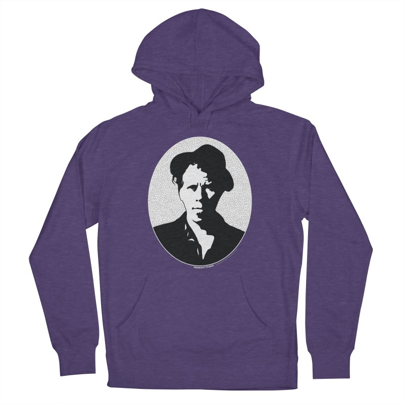 Tom Waits in White Women's French Terry Pullover Hoody by Midnight Studio