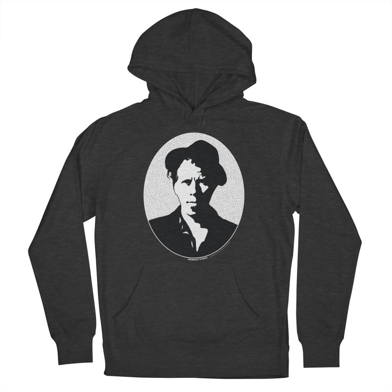 Tom Waits in White Men's French Terry Pullover Hoody by Midnight Studio