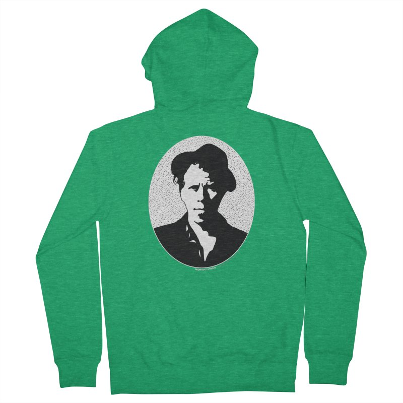 Tom Waits in White Women's French Terry Zip-Up Hoody by Midnight Studio