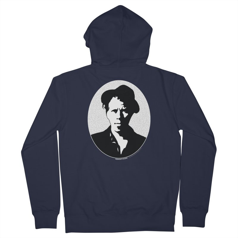 Tom Waits in White Men's French Terry Zip-Up Hoody by Midnight Studio