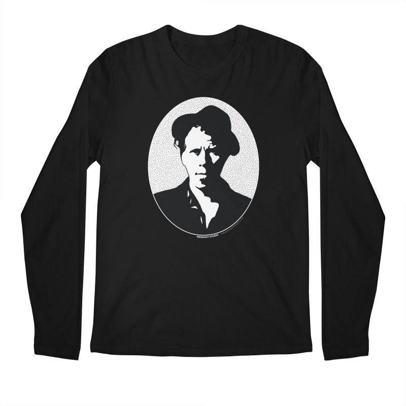 Tom Waits in White Men's Regular Longsleeve T-Shirt by Midnight Studio
