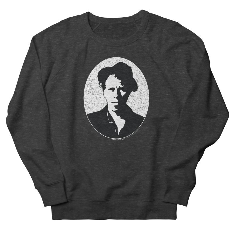 Tom Waits in White Men's French Terry Sweatshirt by Midnight Studio