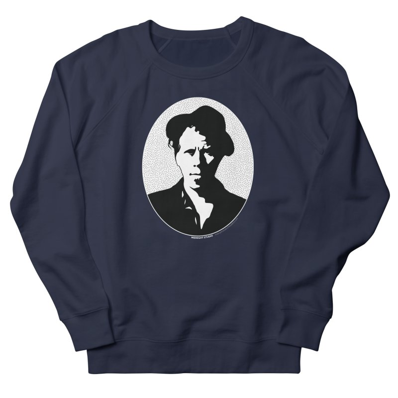Tom Waits in White Men's French Terry Sweatshirt by Midnight Studio