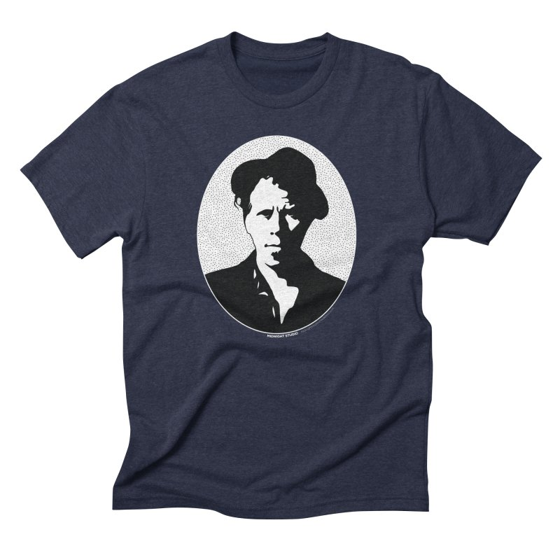 Tom Waits in White Men's Triblend T-Shirt by Midnight Studio