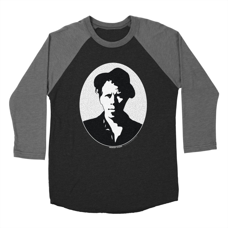Tom Waits in White in Women's Baseball Triblend T-Shirt Grey Triblend Sleeves by Midnight Studio