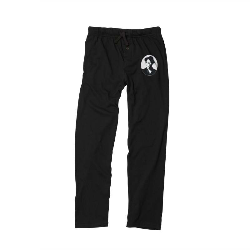 Tom Waits in White Women's Lounge Pants by Midnight Studio