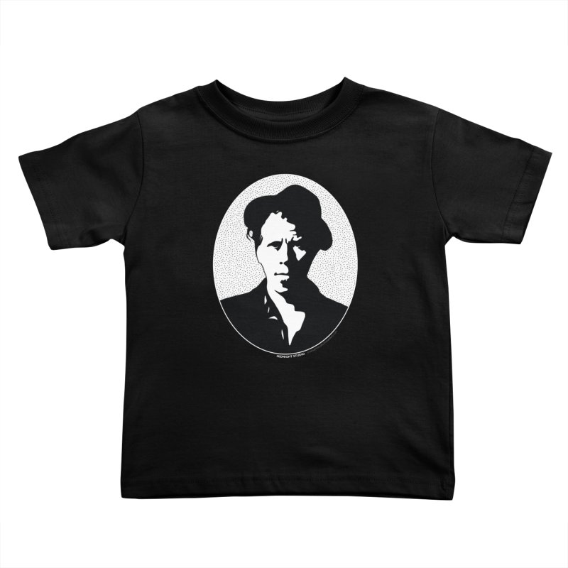 Tom Waits in White Kids Toddler T-Shirt by Midnight Studio
