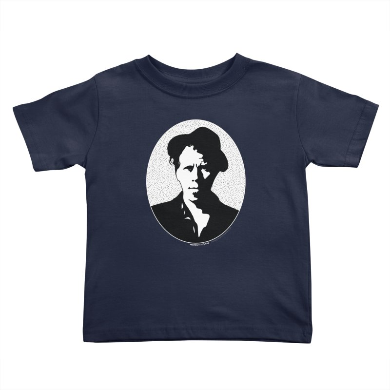 Tom Waits in White Kids Toddler T-Shirt by Midnight Studio