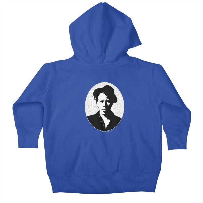 Tom Waits in White Kids Baby Zip-Up Hoody by Midnight Studio