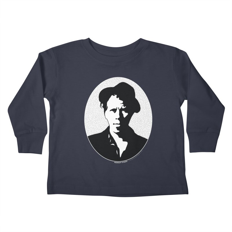 Tom Waits in White Kids Toddler Longsleeve T-Shirt by Midnight Studio