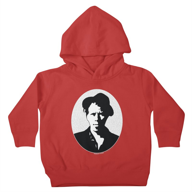 Tom Waits in White Kids Toddler Pullover Hoody by Midnight Studio