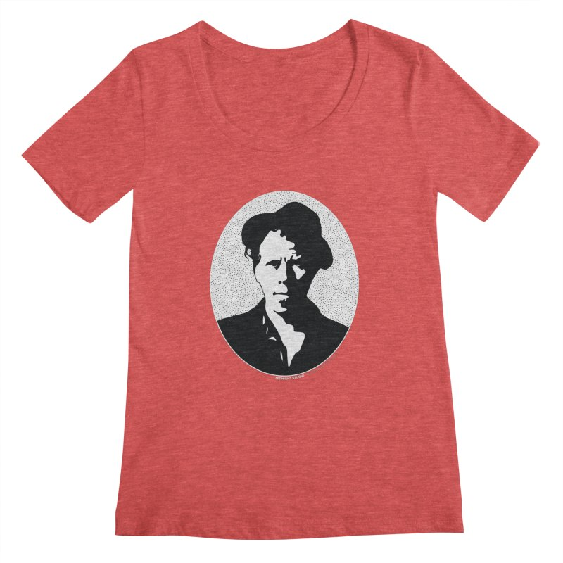 Tom Waits in White Women's Scoopneck by Midnight Studio