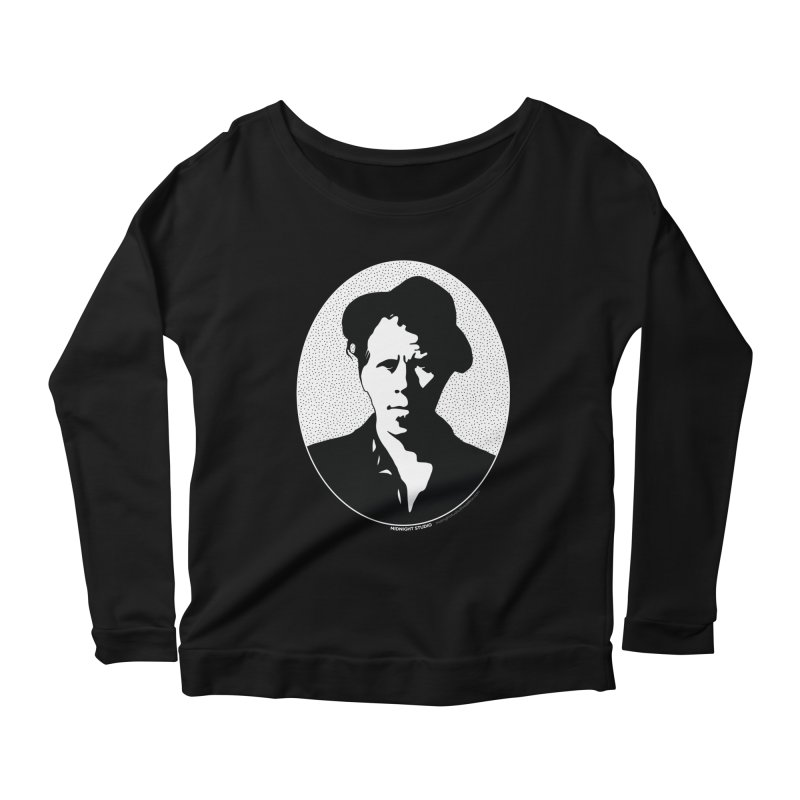 Tom Waits in White Women's Scoop Neck Longsleeve T-Shirt by Midnight Studio