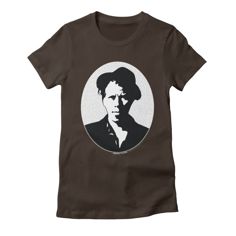 Tom Waits in White Women's Fitted T-Shirt by Midnight Studio