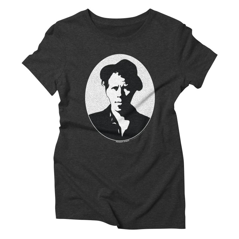 Tom Waits in White Women's Triblend T-Shirt by Midnight Studio