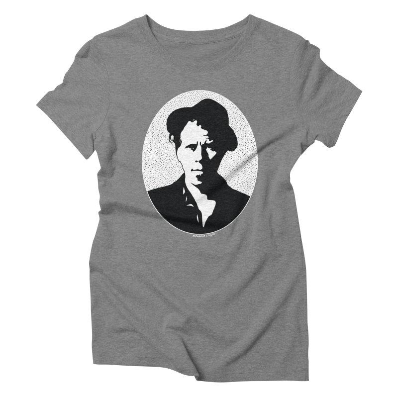 Tom Waits in White Women's Triblend T-Shirt by Midnight Studio