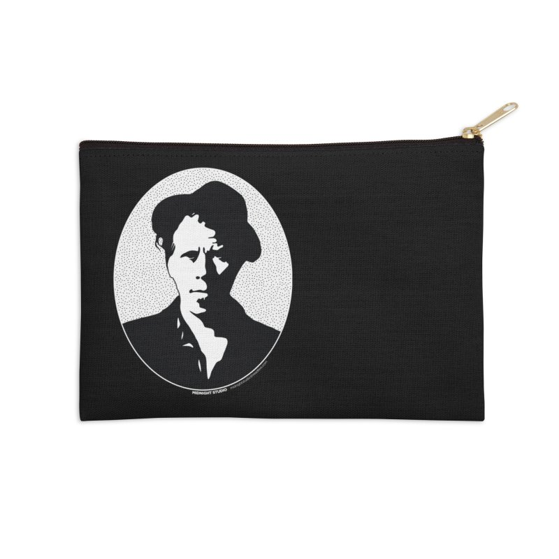 Tom Waits in White Accessories Zip Pouch by Midnight Studio